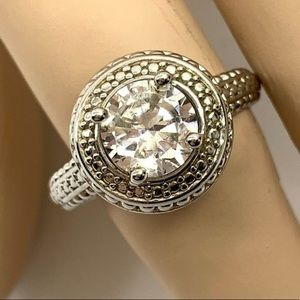 Vintage Women's Ring Round Cut Antique Look Size 9